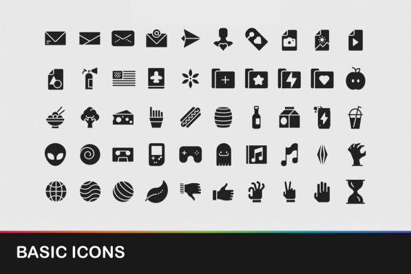 basic icons powerpoint templates 001 warnaslides.com