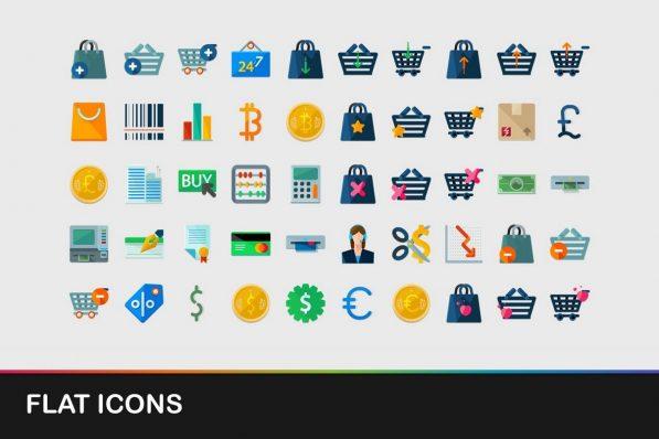 flat icons powerpoint templates 001 warnaslides.com