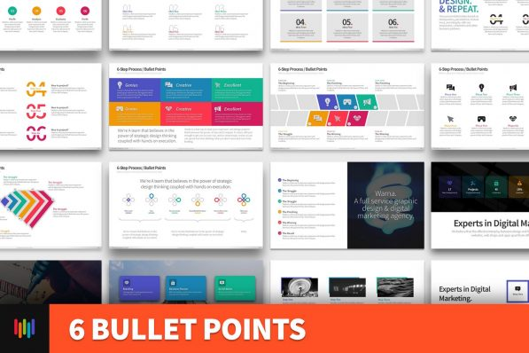 6 Bullet Points Powerpoint Template For Business Pitch Deck Professional Creative Powerpoint Icons 001