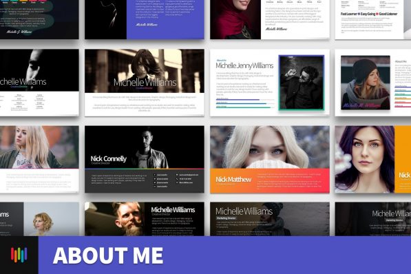 About Me Resume Profile Powerpoint Template 2020 Skill Expertise For Business Pitch Deck Professional Creative Presentation By Warna Slides 001