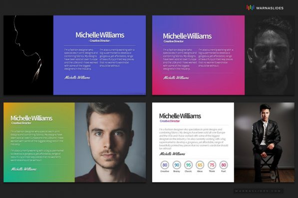 About Me Resume Profile Powerpoint Template 2020 Skill Expertise For Business Pitch Deck Professional Creative Presentation By Warna Slides 006