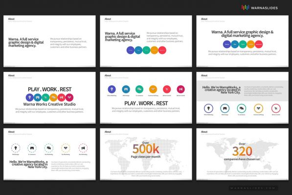 Company Profile Powerpoint Template 2020 Project Intro For Business Pitch Deck Professional Creative Presentation By Warna Slides 006