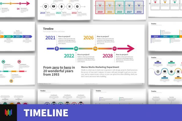 Project Timeline History Powerpoint Template For Business Pitch Deck Professional Creative Powerpoint Icons 001