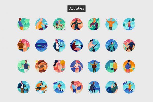 flat round icons powerpoint templates 002 warnaslides.com
