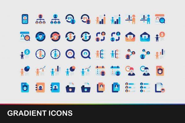 gradient icons powerpoint templates 001 warnaslides.com