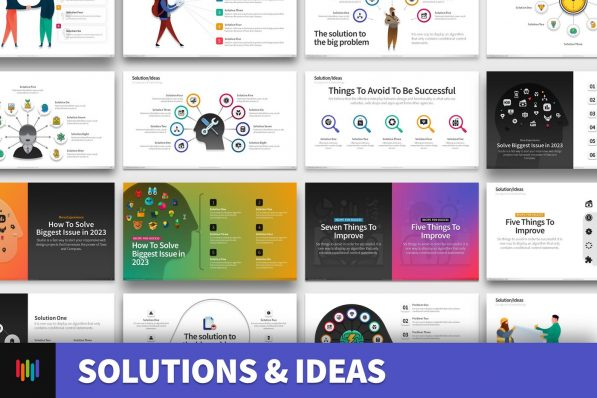 Solution Ideas Opportunity Powerpoint Template For Business Pitch Deck Professional Creative Powerpoint Icons 001