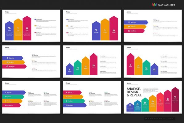 Arrows Chevron Ladder Growth Powerpoint Template For Business Pitch Deck Professional Creative Powerpoint Icons 007