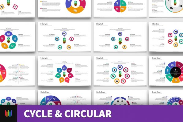 Cycle Circular Process Step Powerpoint Template For Business Pitch Deck Professional Creative Powerpoint Icons 001