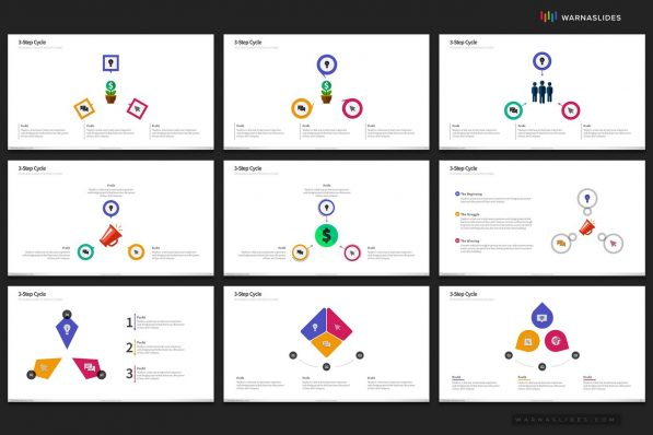 Cycle Circular Process Step Powerpoint Template For Business Pitch Deck Professional Creative Powerpoint Icons 006
