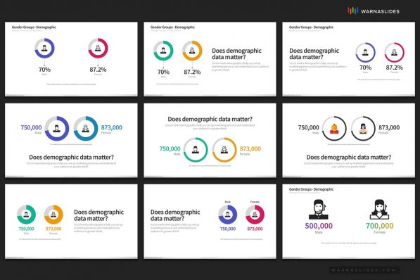Demographic Data Maps Powerpoint Template For Business Pitch Deck Professional Creative Powerpoint Icons 006