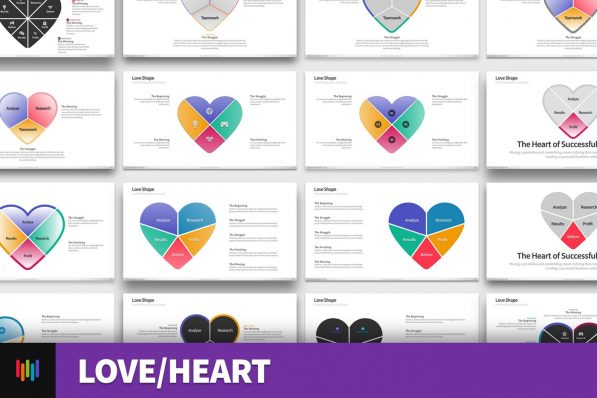 Love Heart Medical Powerpoint Template For Business Pitch Deck Professional Creative Powerpoint Icons 001