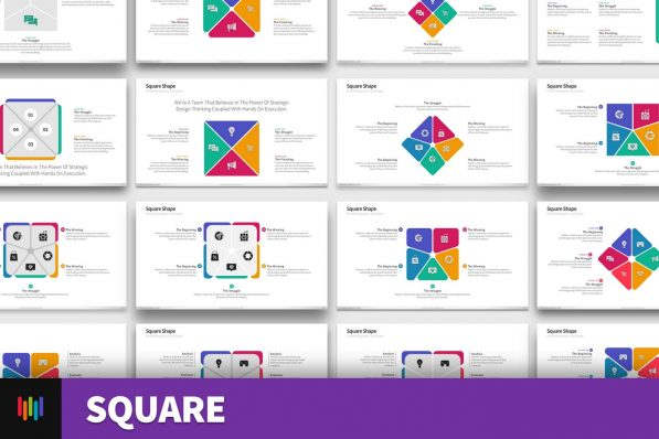 Square Shapes Powerpoint Template For Business Pitch Deck Professional Creative Powerpoint Icons 001