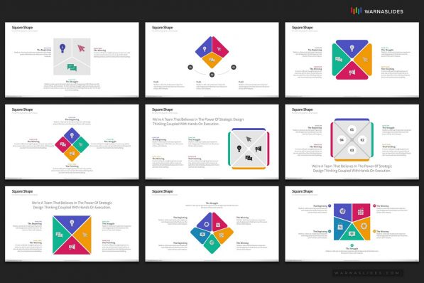 Square Shapes Powerpoint Template For Business Pitch Deck Professional Creative Powerpoint Icons 006