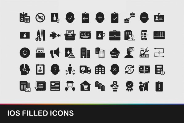 ios filled icons powerpoint templates 001 warnaslides.com