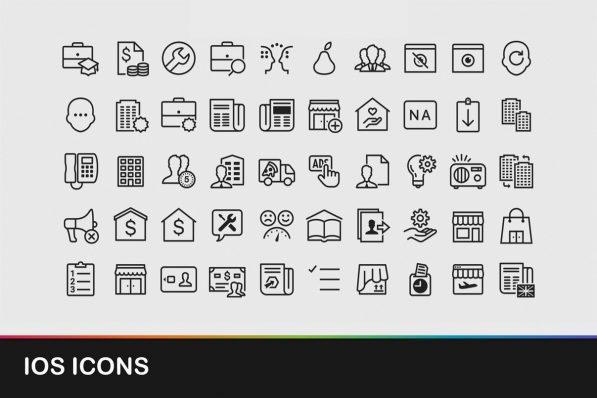 ios icons powerpoint templates 001 warnaslides.com